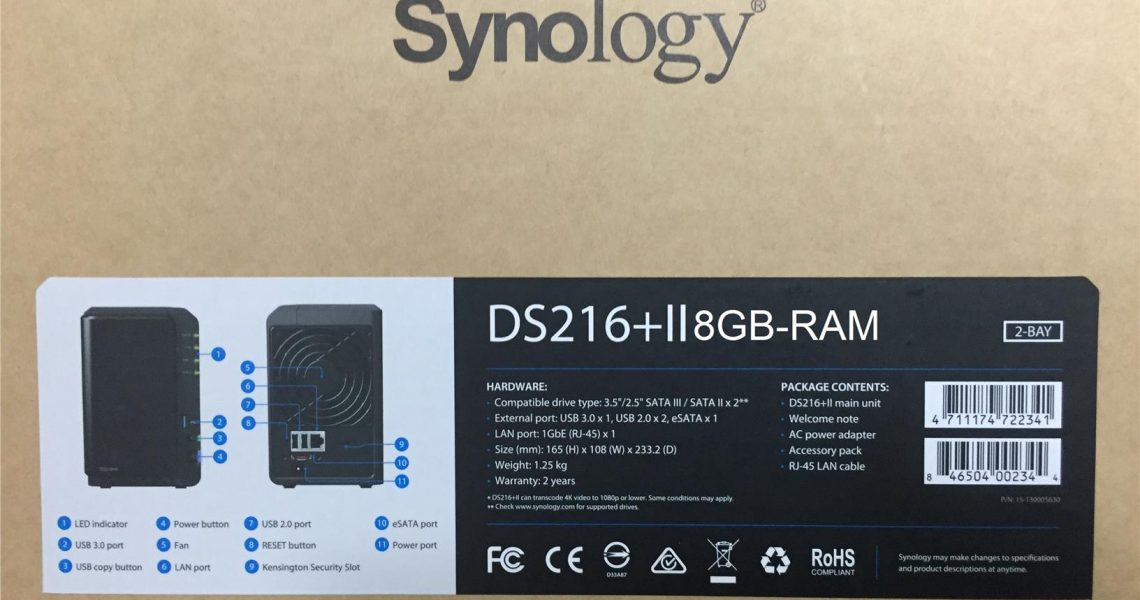 synology diskstation ds216 ii nas storage 8gb ram 2year warranty lala55 1608 08 lala55@1 1140x600 - 搭建自己的一个私有云——群晖ds216+ii体验