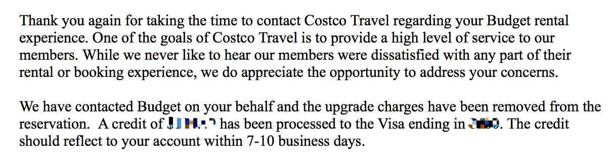 Costco租车乱扣费并最终申请到退款的经历(信用卡及Costco官方)插图(1)